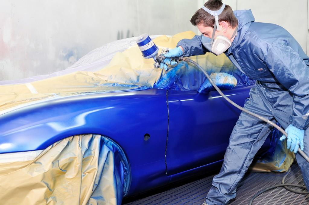 фотография покраски автомобиля