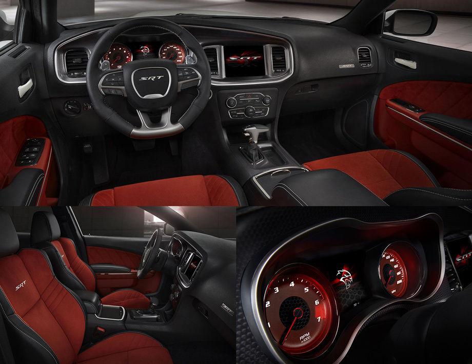 Dodge Charger SRT Hellcat интерьер, салон